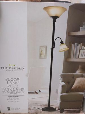 Threshold Floor Lamp with task lamp for Sale in Boynton Beach, FL