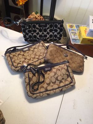 New coach large wristlet purse $30 each for Sale in Santa Ana, CA