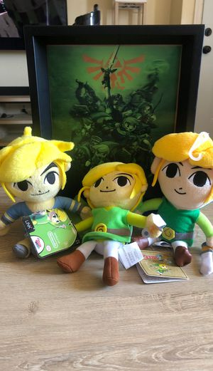 Legend of Zelda plushies with 3D photo frame for Sale in Montclair, CA