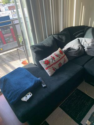 Black Sectional Couch Left Facing for Sale in Washington, DC