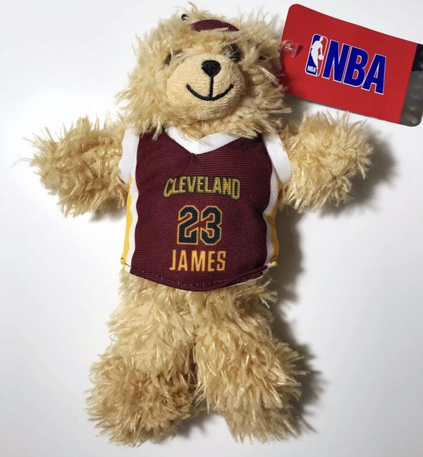 LEBRON JAMES Cleveland Cavaliers Plush Stuffed Animal Bear NBA Store NEW