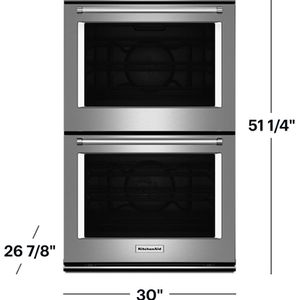 "Box Double Oven Convection Kitchen Aid Stainless Steel 30"" for Sale in Azusa, CA"