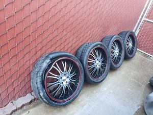 """20"""" 5 lug honda rims, one is damaged. Must go..... for Sale in Fresno, CA"""