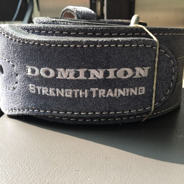 NEW Dominion leather weight lifting training back support belt squat