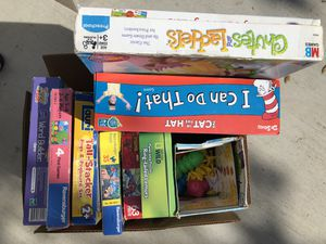 Box of 8 Kids games and puzzles (or $5 each) for Sale in Vista, CA