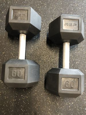 Dumbbells 60lb Pair for Sale in Huntington Beach, CA