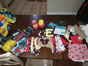 Micky mouse party decorations. First bday. for Sale in Lakeland, FL
