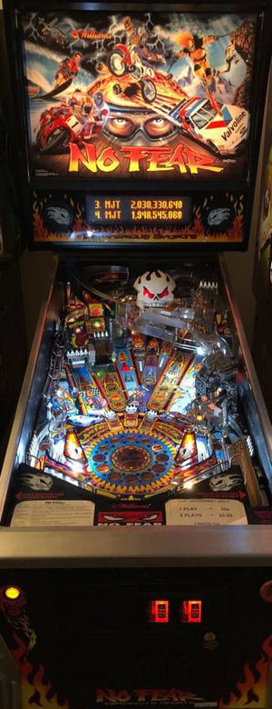 No Fear Dangerous Sports Pinball Arcade Game - Sell or Trade for Sale in Westland, MI