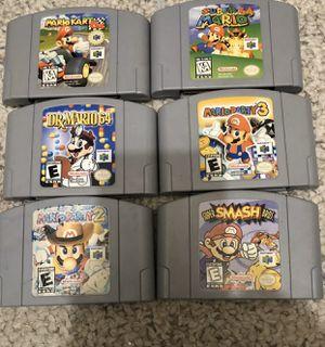 Nintendo 64 Mario Game Lot Of 6 Super Mario Mario Party 2 for Sale in Los Angeles, CA