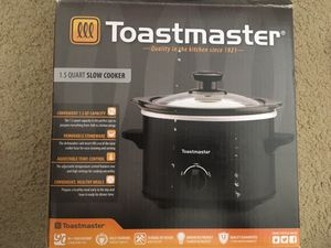 Toast master slow cooker for Sale in Falls Church, VA