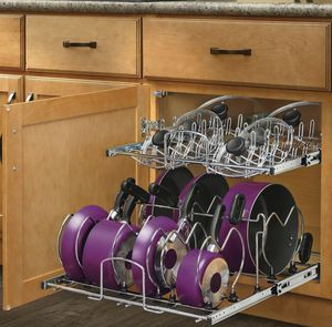 Rev-A-Shelf 20.75-in W x 18.13-in H Metal 2-Tier Cabinet Cookware Organizer for Sale in Knoxville, TN