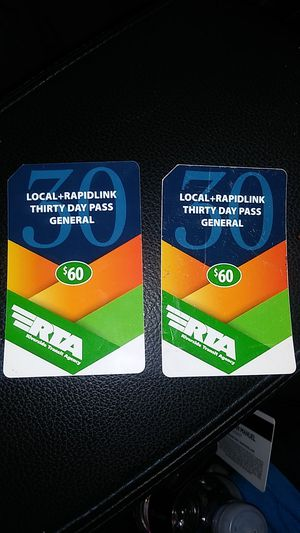 Bus passes RTA 30 day pass for Sale in Riverside, CA