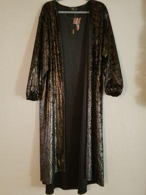 Black velvet gold shimmer cardigan for Sale in Tolleson, AZ