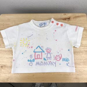 """Osh Kosh B'gosh Toddler Top White Size 3T 1980's Vtg """"Mommy, Love Me"""" USA Crop Top for Sale in Huntington Beach, CA"""