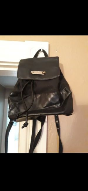 Liz Claiborne black leather backpack purse new for Sale in Southbridge, MA