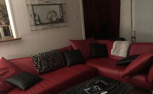 Red Leather living room set for Sale in Dallas, TX