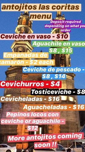 Ceviche IG: antojitos_las_coritas for Sale in E RNCHO DMNGZ, CA