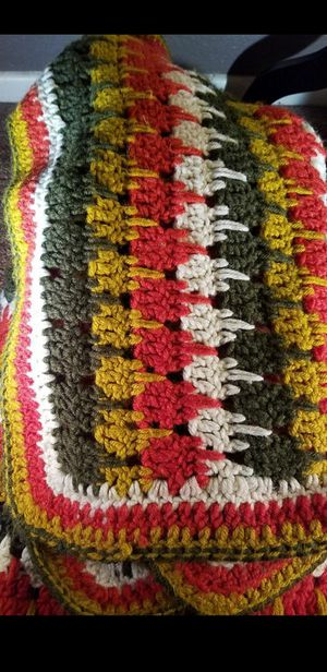 vintage crochet throw knit blanket for Sale in Moreno Valley, CA