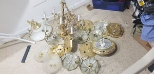 Assorted light fixtures and chandeliers for Sale in Upper Marlboro, MD
