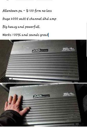 2000 watt 4 channel DHD amp for Sale in Allentown, PA