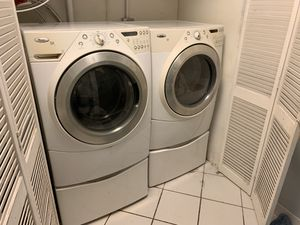 Whirlpool front loader washer/dryer for Sale in Pompano Beach, FL