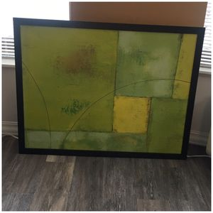 Framed Artwork greens x yellows for Sale in Chicago, IL