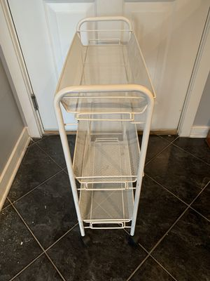 White Rolling Rack for Sale in Chicago, IL