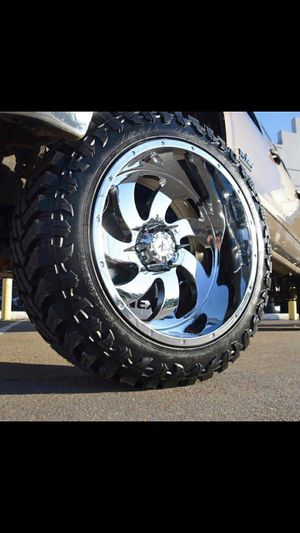 22x12 MONKEY RIMS AND TIRES for Sale in Phoenix, AZ