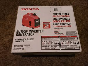 Honda 1000-Watt Super Quiet Gasoline Powered Portable Inverter Generator with Eco-Throttle and Oil Alert for Sale in Modesto, CA