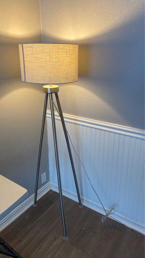 Brushed nickel floor lamp for Sale in Garland, TX