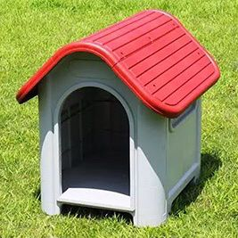 """(New In Box) $45 Plastic Dog House Small/Medium Pet Indoor Outdoor All Weather Shelter Cage Kennel 30x23x26"""" for Sale in Whittier, CA"""