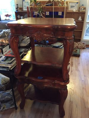 2 Solid wood carved Tables for Sale in Blaine, WA
