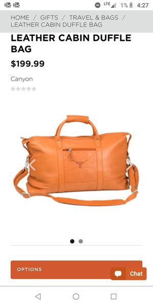 Longhorn leather duffle for Sale in Austin, TX