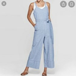 New Universal Thread Blue Belted Jumpsuit size L for Sale in Taylorsville,  UT