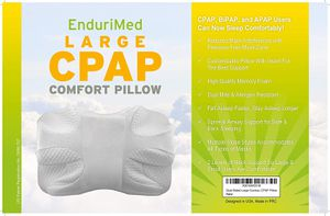 EnduriMed CPAP Pillow - Memory Foam Contour Design Reduces Face Mask Pressure & Air Leaks - 2 Head Rests for Max Comfort - Removable Foam Insert for Sale in Sterling Heights, MI