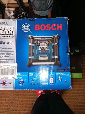 BOSCH POWER BOX (360).. Bluetooth job site radio/charger/digital media stereo!! for Sale in Everett, WA