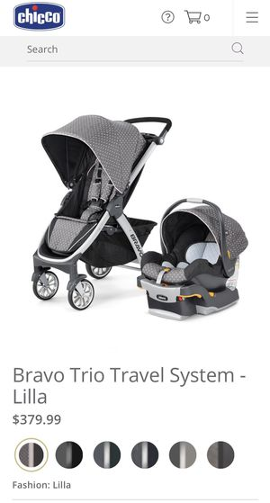 chicco bravo trio travel system stroller, lilla for Sale in Pearland, TX