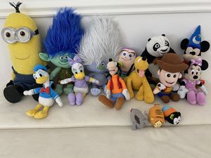 Plushies all $60 all of $5 each or $10 big ones for Sale in Tamarac, FL