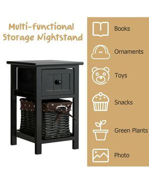 Mesita de Madera Multifunctional-Marron / Organizer Wood Nightstand - Brown for Sale in The Bronx, NY