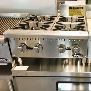 Business equipment for sale, Commercial restaurant four burner countertop gas stove for Sale in Kent, WA