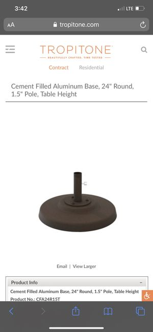 "2 for the price of one☀️☂️Tropitone Patio Umbrella base / stands only 24"" for Sale in Dallas, TX"