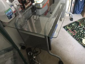 Glass computer desk for Sale in North Liberty, IA