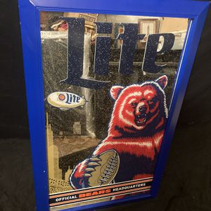 Large Chicago Bears Bar Mirror for Sale in Chicago, IL
