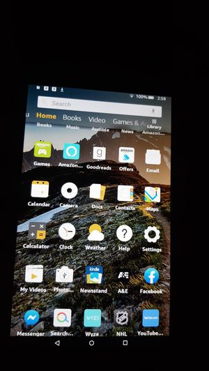 Blue Amazon Fire 7 Tablet upgraded for Sale in Plant City, FL