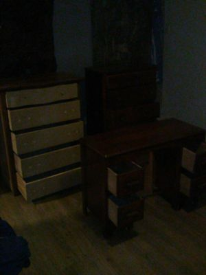 Three antique dressers great condition package deal $130or $45each for the back two dressers$40 for the smaller dresser for Sale in Fresno, CA