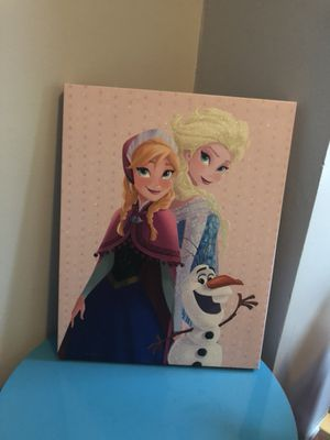Elsa and Anna wall decor for Sale in North Olmsted, OH