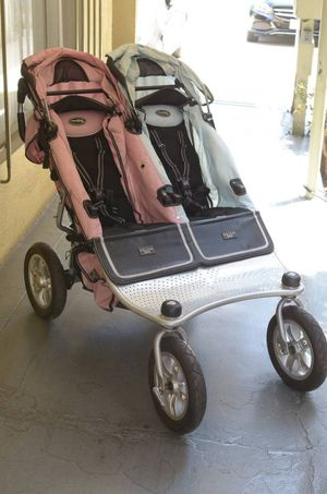 Valco Twin Dual Baby Stroller Tri-Mode Boy Girl Pink Child Carriage for Sale in Beverly Hills, CA