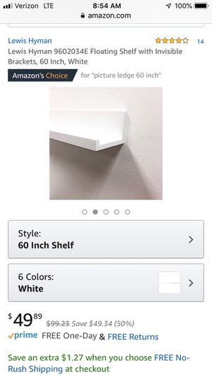 White shelf - brand new in box for Sale in West Hollywood, CA