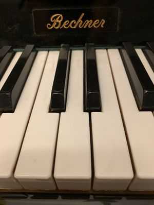 Bechner Black Lacquer Stand- Up Piano for Sale in Royal Palm Beach, FL