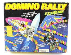 Vintage Domino Rally Extreme Action Set Game Board Game, Pressman for Sale in New Port Richey, FL